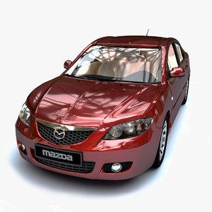 3D mazda 3 2004 model