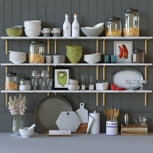kitchen decor set 3D