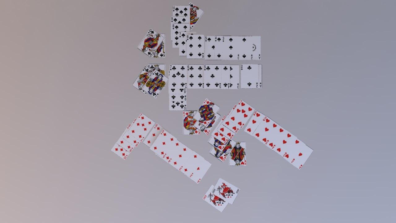 poker cards model