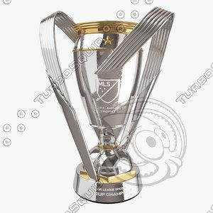 mls cup trophy - 3D