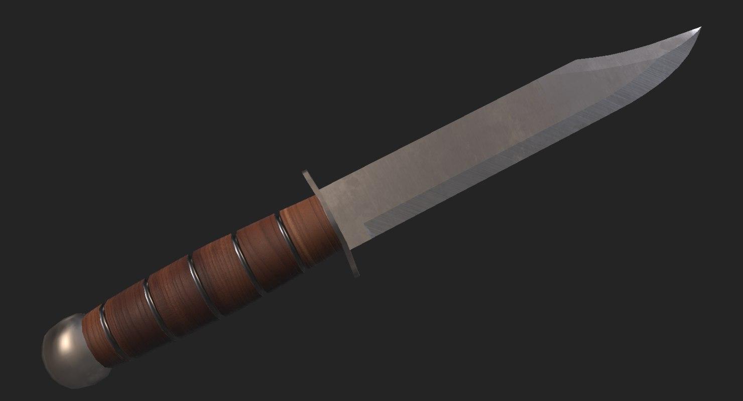 hunting knife 3D