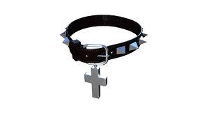 collar dog goth 3D model