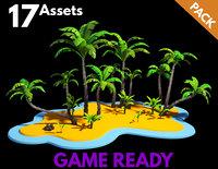 palms banana trees model