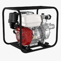 water pump engine 3D