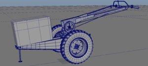3D handtracktor tracktor model