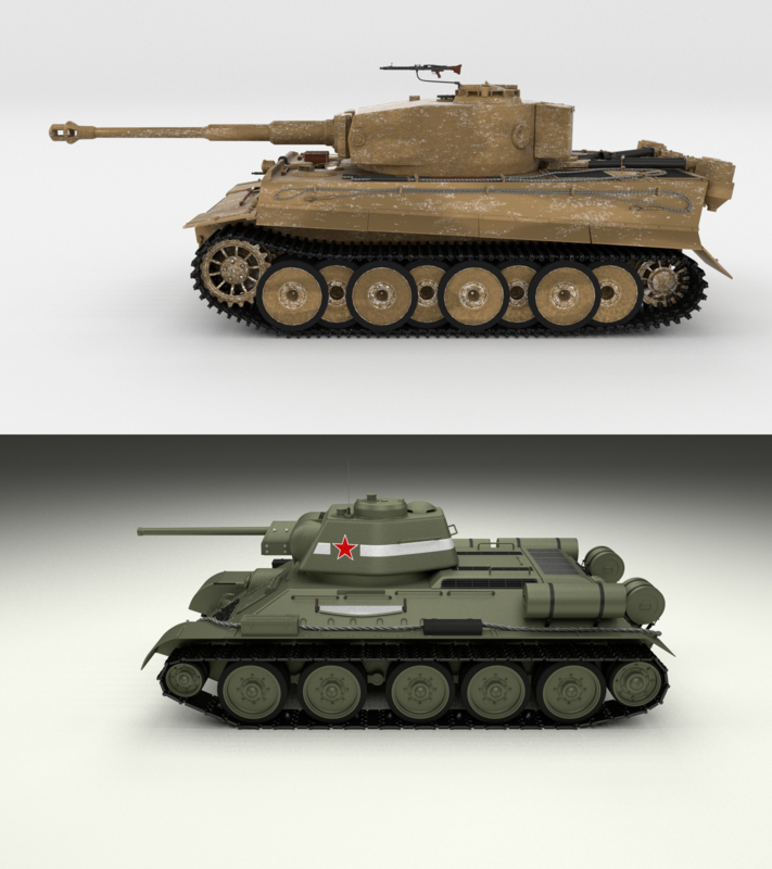 pack tiger early 3D model