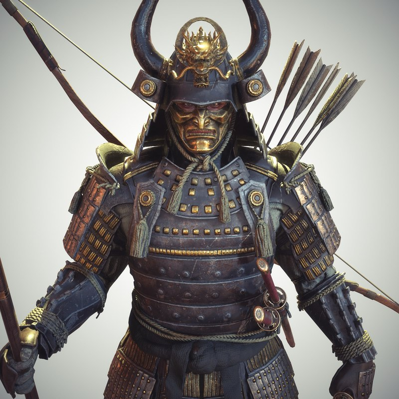 Samurai Rigged 3D Character Unity
