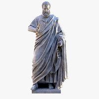 3D saint peter basilica statue model