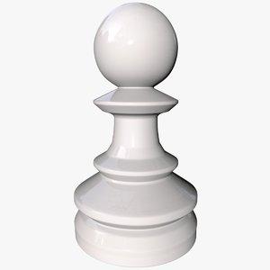 chess pawn 3 0 3D model
