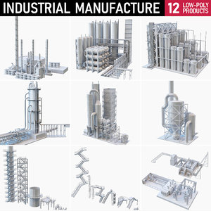 3D industrial buildings model