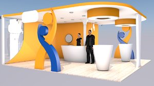 exhibit expo stand 3D model