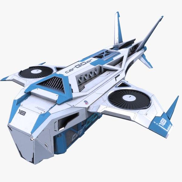 sci-fi cargo drone pbr 3D model