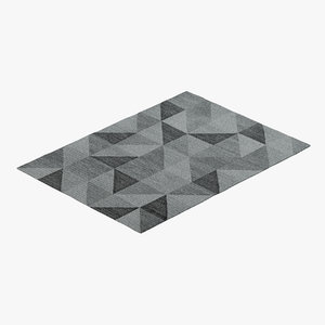 3D grey carpet model