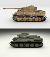 3D pack tiger early interior model