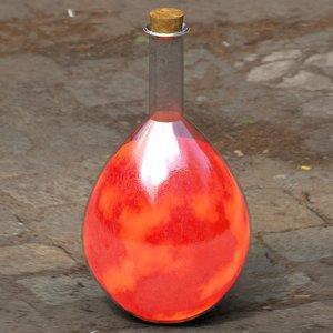 ready health potion 3D model