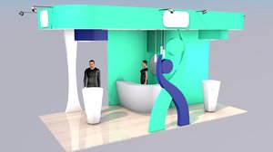 3D model corporate exhibition stand project