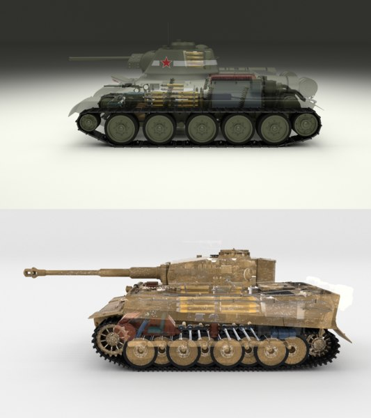 pack tiger early interior 3D model