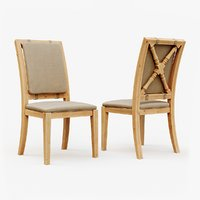classic wooden chair 3D