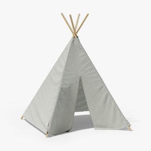 3D grey tent