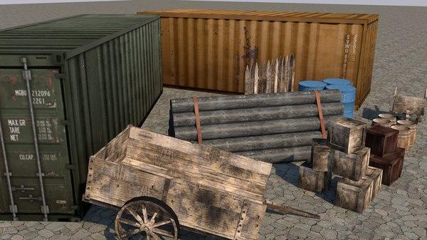 3D ready assets fence model