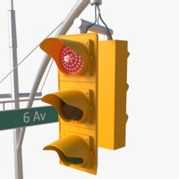 3D model nyc traffic light