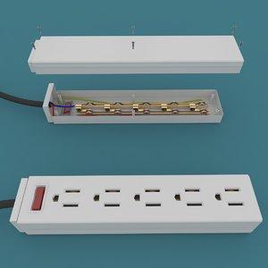 3D plug multiplug model