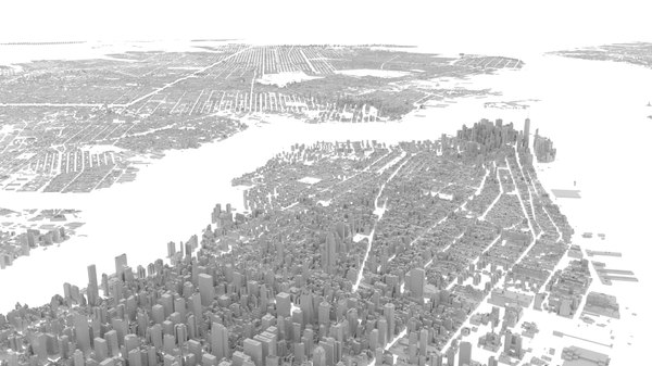 city new york buildings 3D model