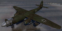 3D ww2 aircraft german bombers