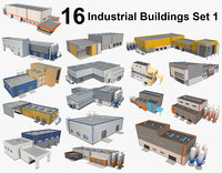 16 Industrial Buildings Set 1