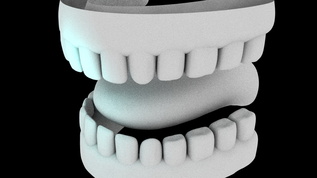 3D mouth teeth model