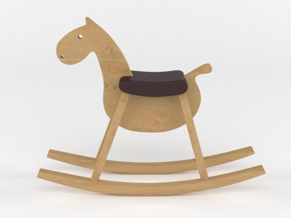 toy rocking horse 3D