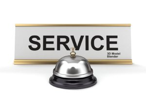 reception bell sign model
