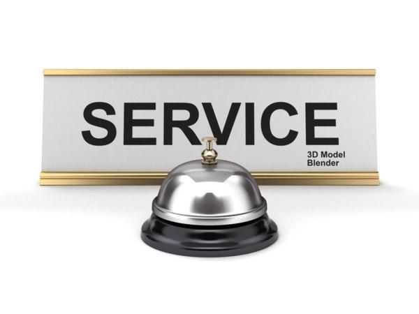 reception bell sign model