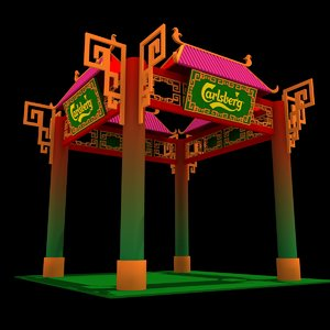 3D calsberg exhibition booth model