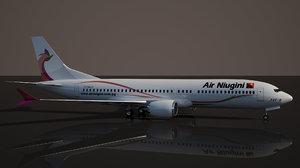air niugini boeing 737 3D model