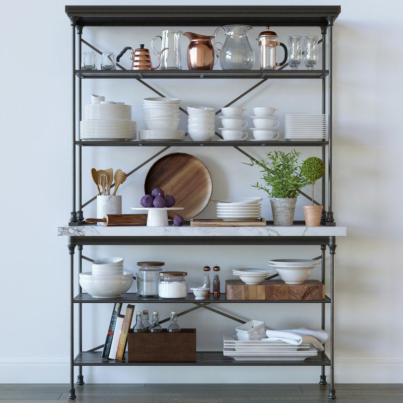 Kitchen Decor Set Crate Barrel 3D Model