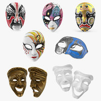 3D model masks decor female