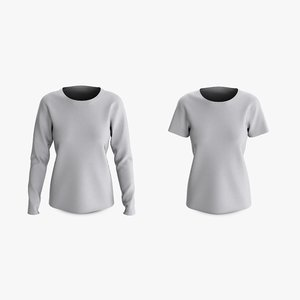 3D cotton female t-shirts dropped