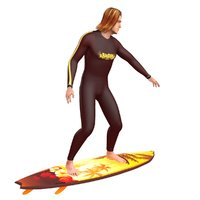 rigged surfer 3D