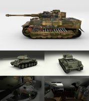 pack tiger late interior 3D model