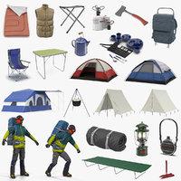 camping man traveler 3D model