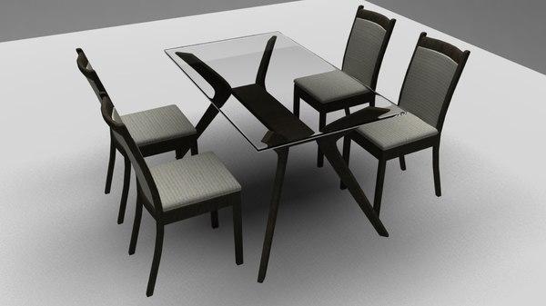 dining table set 3D model