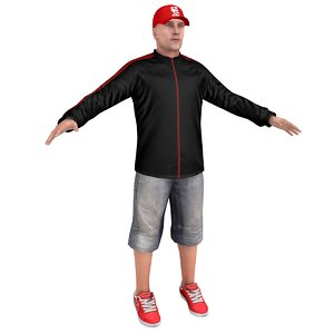 3D casual man cap model
