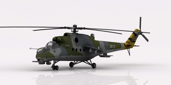 3D helicopter mi-24 czech air force