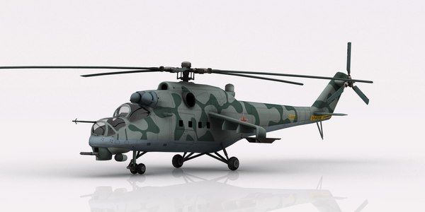 3D helicopter mil mi-24 model