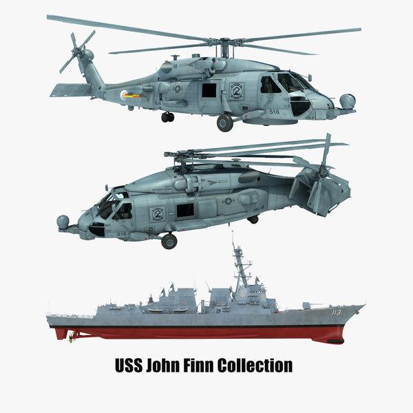 2 uss john finn 3D model
