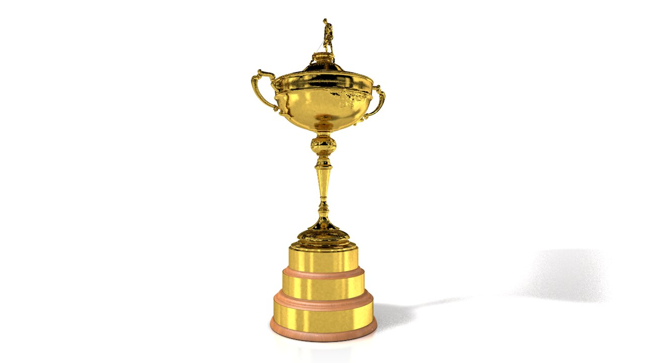trophy ryder cup awarded 3D model
