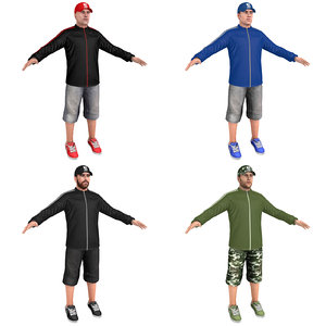 3D pack casual man