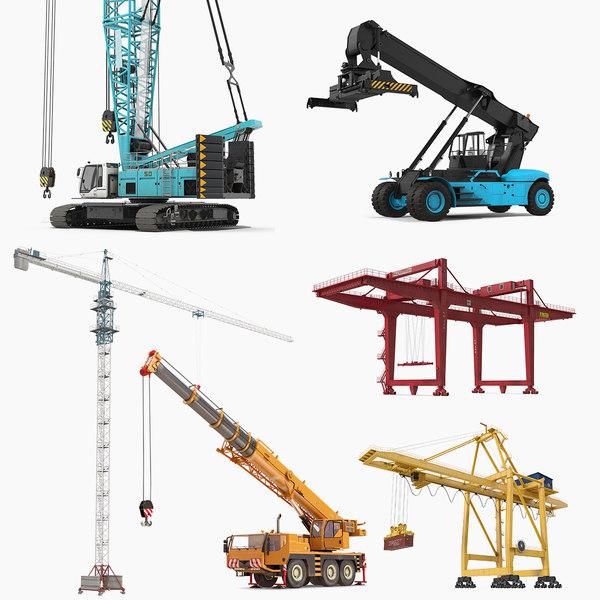 cranes 2 rig 3D model
