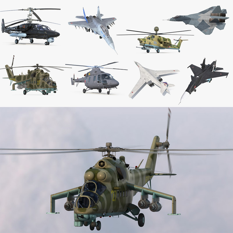 3D model russian military aircrafts mil